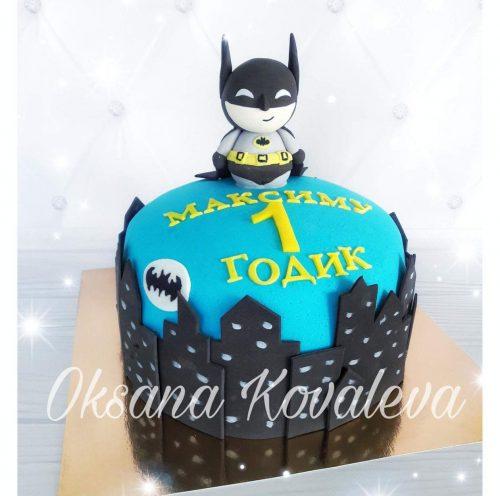 Торт Бэтмен на один годик