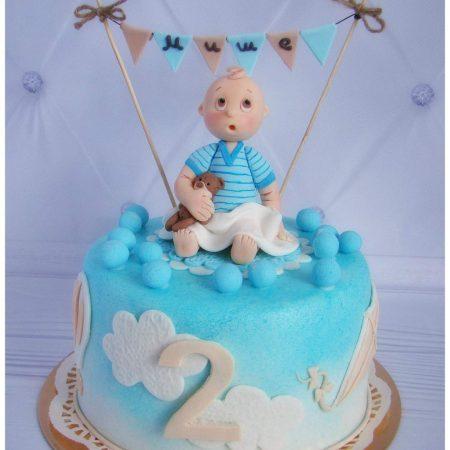 Торт для Миши на 2 годика