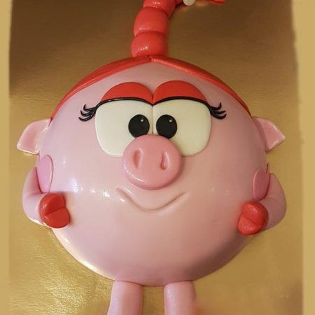 Розовый торт Нюша