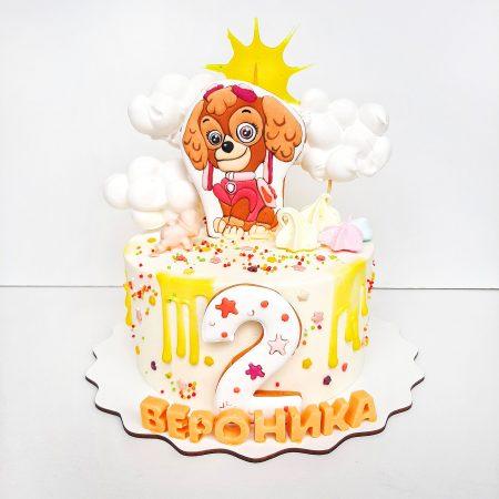 Торт щенячий патруль Скай
