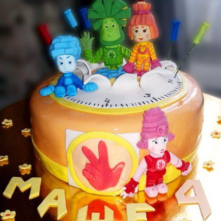 Торт с фигурками Фиксиков