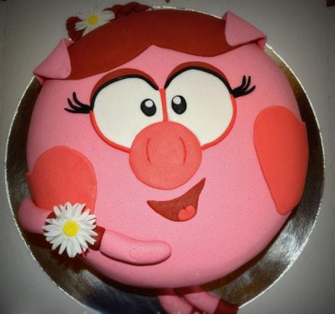 Торт Нюша с цветочком