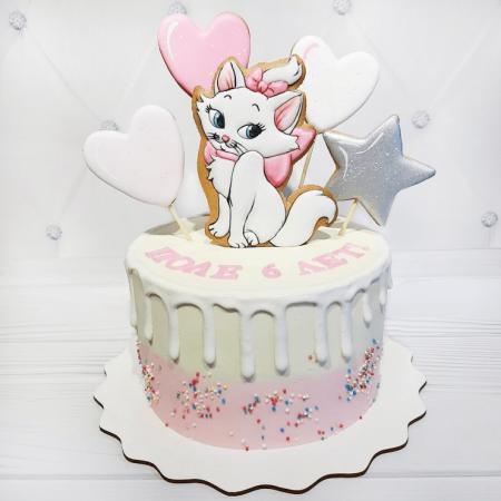 Торт с котенком из крема
