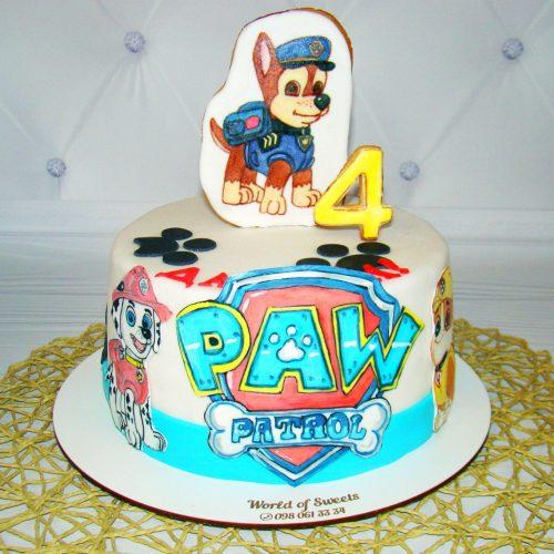Торт щенячий патруль с логотипом