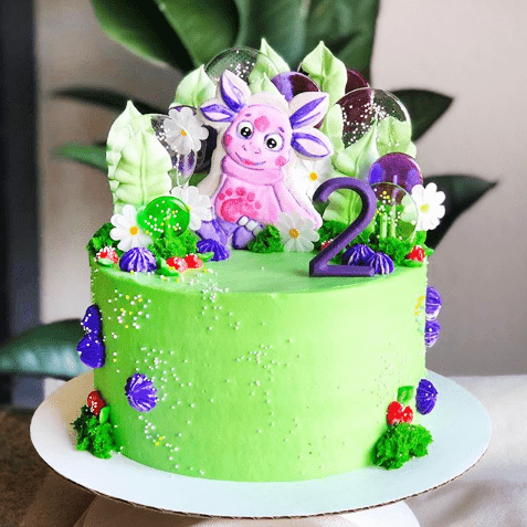 Торт лунтик без мастики