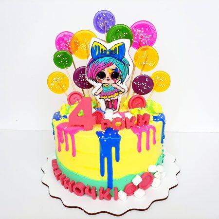Торт для девочки Лол на 3 года