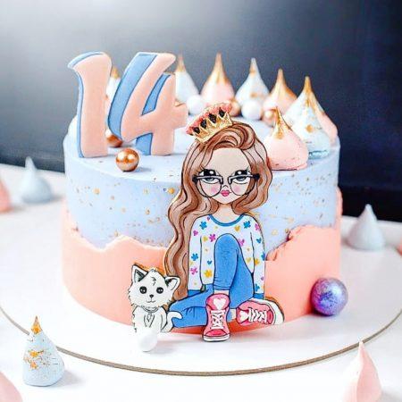 Торт для девочки подростка на 14 лет