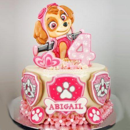 Торт щенячий патруль для девочки со Скай