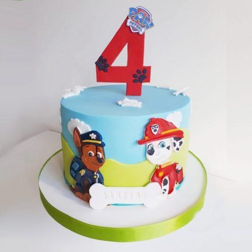 Торт щенячий патруль с топперами
