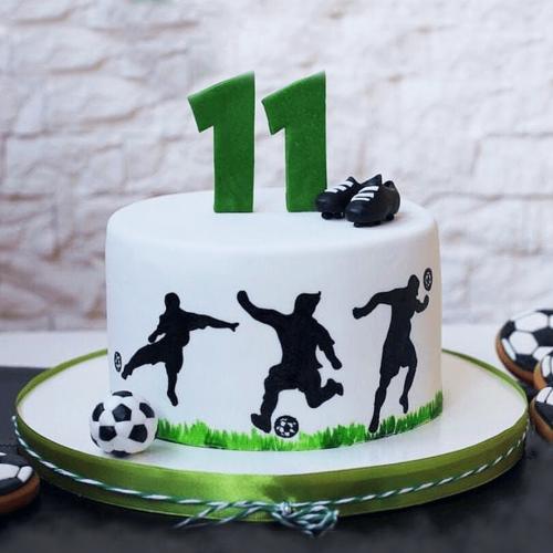 Торт 11 летний футболист
