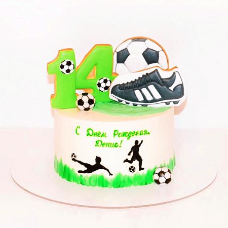 Торт с футболистами для девочки