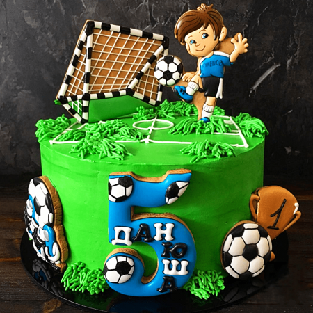 Торт для футбольного вратаря