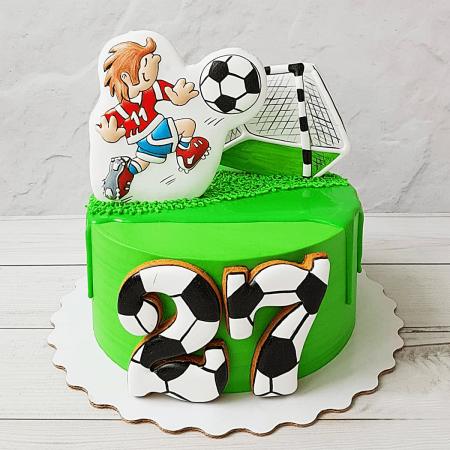 Торт для мальчика на футбольную тематику