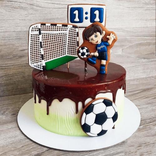Торт для футболиста барселона