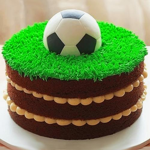 Торт для футболиста из крема