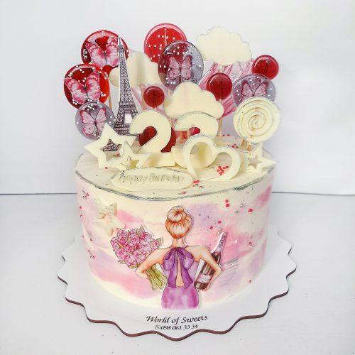 Торт девушке на 23 года