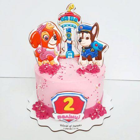 Торт щенячий патруль девочке