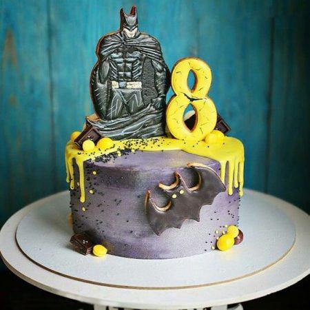 Торт Бэтмен на 8 лет мальчику