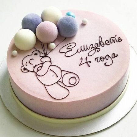 Торт для девочки на 4 года