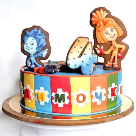 Торт Фиксики на 4 года с пряниками