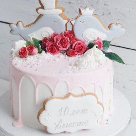 Торт 10 лет совместной жизни