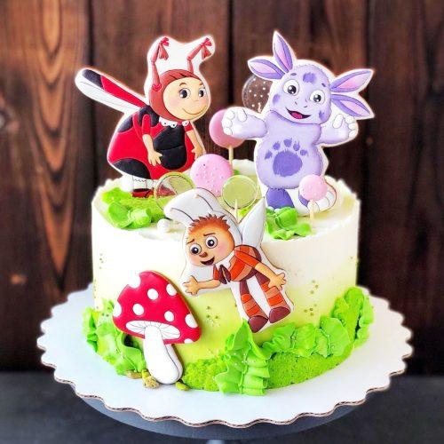 Торт с лунтиком для девочки