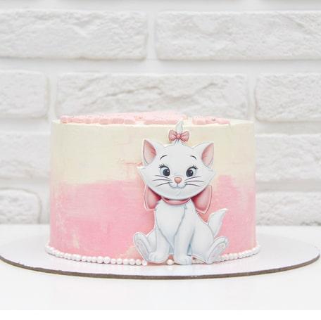 Торт с кошечкой мари