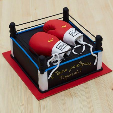 Заказать торт кикбоксеру в виде боксерского ринга