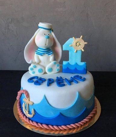 Торт на годик в морском стиле
