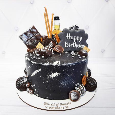 Торт для мужчины с виски