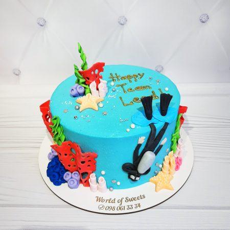 Торт водолаз
