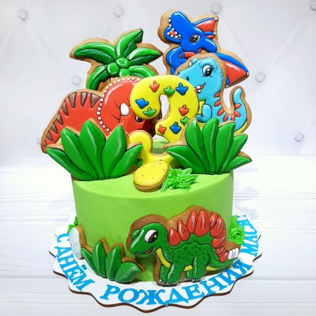 Торт с динозавром Арло
