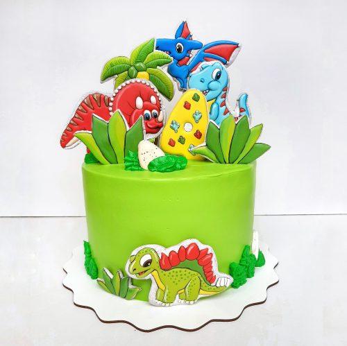 Торт Веселозавр Рекс с динозавром
