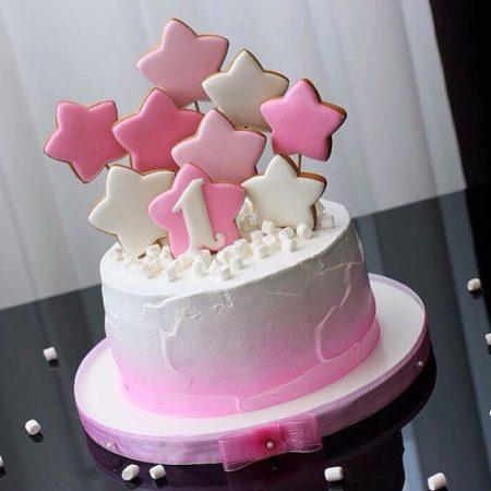 Торт с пряниками звезды