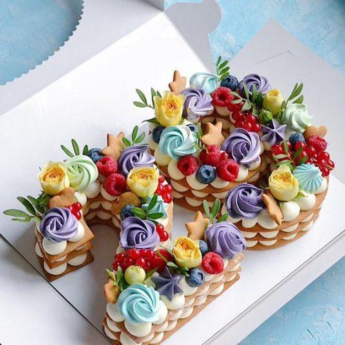 Торт цифра 29