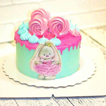 Торт с меренгой девочке