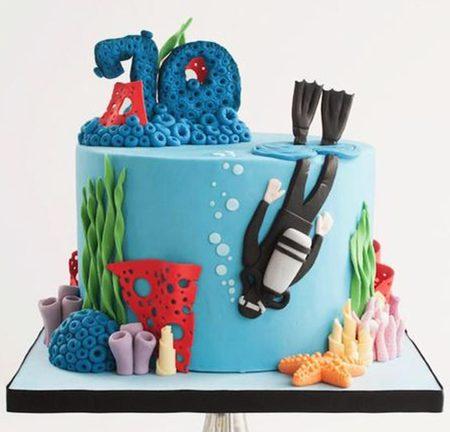 Торт водолазу