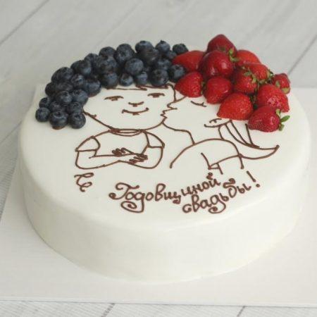 Торт с поцелуем