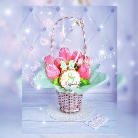 Пряничный букет из роз