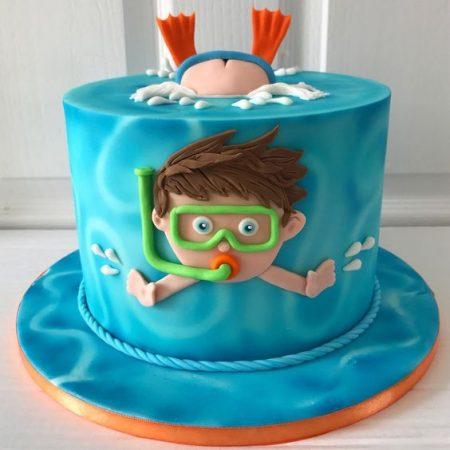 Торт аквалангист