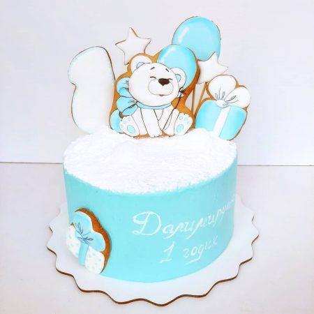 Белый мишка торт