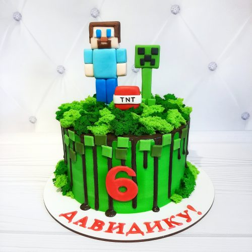 Торт майнкрафт на день рождения
