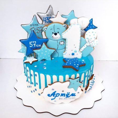 Торт мишка Тедди на годик Киев