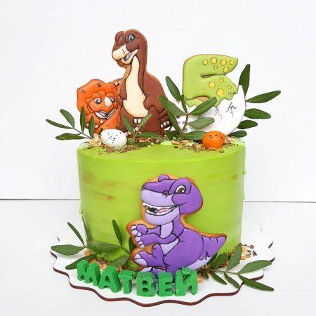 Торты с динозаврами