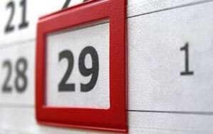 Цифра 29 на календаре