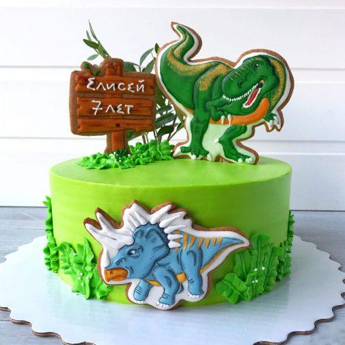 Торт юрский период динозавры с пряником