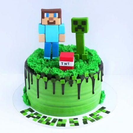 Крафт торта в майнкрафт