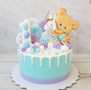 Торт на годик девочке с пряниками