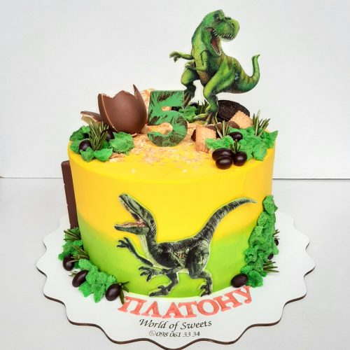 Торт с динозавром фото