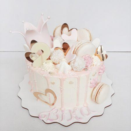 Торт с короной девочке
